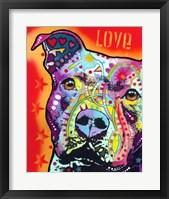 Thoughtful Pitbull 2 Fine Art Print
