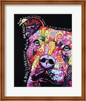 Thoughtful Pit Bull 1 Fine Art Print