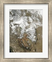 The high peaks of the Rocky Mountains covered with snow Fine Art Print