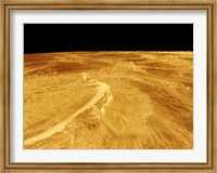 3D Perspective View of Latona Vorona and Dali Chasma on Venus Fine Art Print