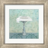 Damask Bath Sink Fine Art Print