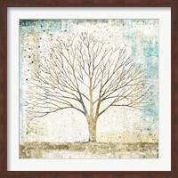 Solitary Tree Collage Fine Art Print