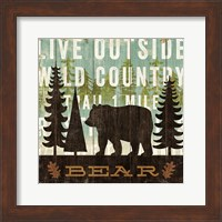 Simple Living Bear Fine Art Print