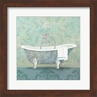 Damask Bath Tub Fine Art Print