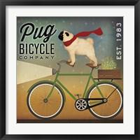 Pug on a Bike Fine Art Print