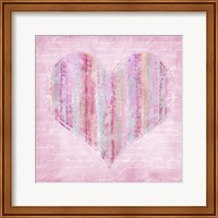 Striped Pink Heart Fine Art Print