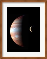 Jupiter and its Volcanic Moon Lo Fine Art Print