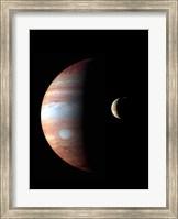 Jupiter and its Volcanic Moon Lo Fine Art Print