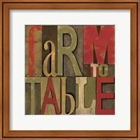 Printers Block Farm To Table I Fine Art Print