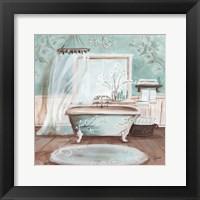 Aqua Blossom Bath II Fine Art Print