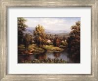 Villa at the River Bank Fine Art Print