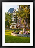 British Columbia, Victoria, Empress Hotel Gardens Fine Art Print