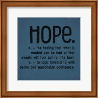 Definitions-Hope III Fine Art Print