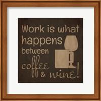 Wine and Coffee Sayings I Fine Art Print