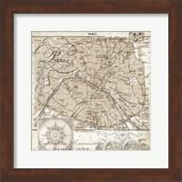 Euro Map I - Paris Fine Art Print