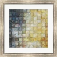 Yellow Gray Mosaics I Fine Art Print