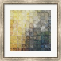 Yellow Gray Mosaics II Fine Art Print