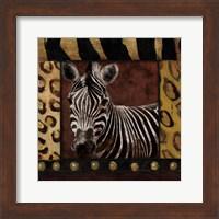 Zebra With Border Fine Art Print
