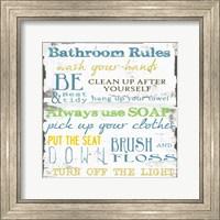 Bathroom Rules Multi 1 Fine Art Print