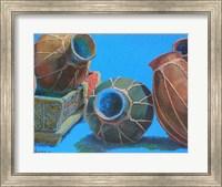 Blue Pots 1 Fine Art Print