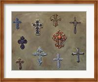 Wall of Crosses Fine Art Print