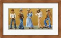 Western Cowgirls Fine Art Print