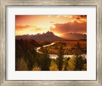 Teton Range at Sunset, Grand Teton National Park, Wyoming Fine Art Print
