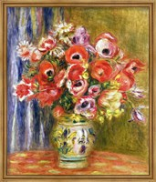 Vase of Tulips and Anemones, c.1895 Fine Art Print