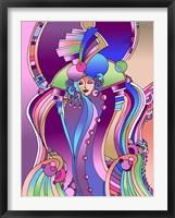 Art Deco Lady Bird Fine Art Print