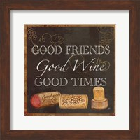 Wine Cork Sentiment III Fine Art Print