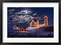Moon Over Nubble Fine Art Print