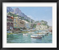 Capri Harbour Fine Art Print