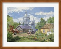 Gathered Around the Church Fine Art Print