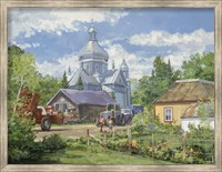 Gathered Around the Church Fine Art Print