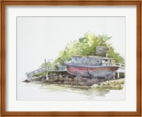 Houseboat on the Shore Fine Art Print