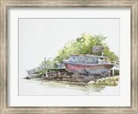 Houseboat on the Shore Fine Art Print