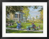 Playing Horse and Wagon Fine Art Print