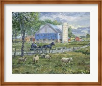 Sheep in a Field Fine Art Print
