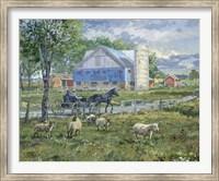 Sheep in a Field Fine Art Print