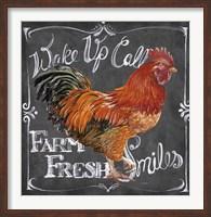 Rooster on Chalkboard II Fine Art Print
