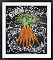 Chalkboard Carrots Fine Art Print