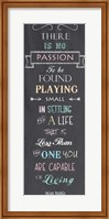 Passion - Nelson Mandela Quote Fine Art Print