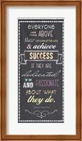 Achieve Success - Nelson Mandela Quote Fine Art Print