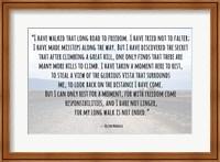 Road to Freedom - Nelson Mandela Quote Fine Art Print