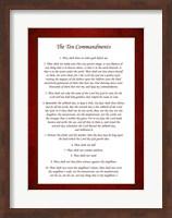 The Ten Commandments - Red Fine Art Print