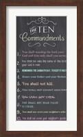 The Ten Commandments - Chalkboard Fine Art Print