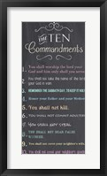 The Ten Commandments - Chalkboard Fine Art Print