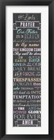 The Lord's Prayer - Chalkboard Fine Art Print