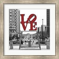 LOVE (Black, White, Red) Fine Art Print
