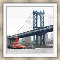 Manhattan Bridge with Tug Boat Fine Art Print